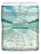 Waves Of Reflection Duvet Cover