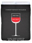 Wine Glasses 1 Duvet Cover