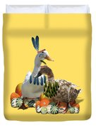 Thanksgiving Indian Ducks Duvet Cover