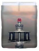 Mysterious Metallic Structure Duvet Cover