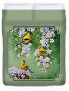 American Goldfinch Spring Duvet Cover by Crista Forest