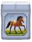 Buckskin Horse - Morning Run Duvet Cover