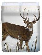 Buck At Waters Edge Duvet Cover