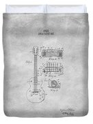 Gibson Guitar Patent From 1955 Duvet Cover by Mark Rogan