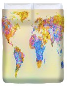 Abstract Earth Map 2 Duvet Cover by Bob Orsillo