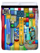 Art Deco Stained Glass 1 Duvet Cover