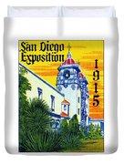 1915 San Diego Exposition Duvet Cover