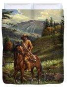 Jim Bridger - Mountain Man - Frontiersman - Trapper - Wyoming Landscape Duvet Cover