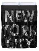 New York City - Black Duvet Cover by Nicklas Gustafsson