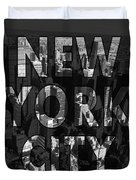 New York City - Black Duvet Cover