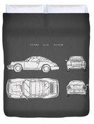 Porsche 911 Cabriolet Patent Duvet Cover
