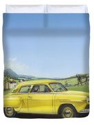 Studebaker Champion Antique Americana Nostagic Rustic Rural Farm Country Auto Car Painting Duvet Cover