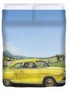 Studebaker Champion Antique Americana Nostagic Rustic Rural Farm Country Auto Car Painting Duvet Cover