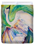Beauty And Grace Swan Duvet Cover