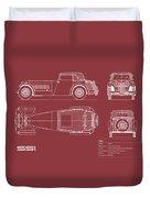 Jaguar Ss1 Blueprint Duvet Cover