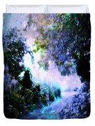 Fantasy Garden Path Periwinkle Duvet Cover