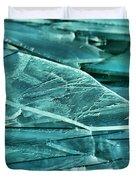 Aqua Ice Duvet Cover