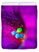 Macro Purple Flower Duvet Cover