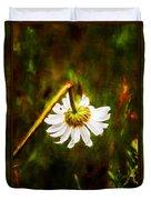Broken Hearted Oxeye Daisy Asteraceae  Duvet Cover