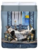 Funny Pet Print With A Tipsy Kitty  Duvet Cover