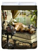 Funny Pet Talking On The Phone  Duvet Cover