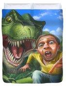Tyrannosaurus Rex Jurassic Park Dinosaur - T Rex - Paleoart- Fantasy - Extinct Predator Duvet Cover