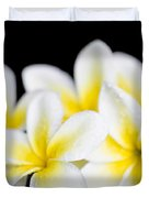 Plumeria Obtusa Singapore White Duvet Cover