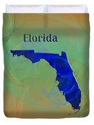 Florida Map Duvet Cover