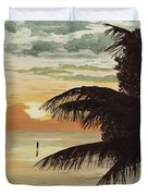 Fisherman At Sunrise Duvet Cover