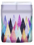 Colorful Abstract Geometric Triangle Peak Woods  Duvet Cover