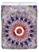 Purple Mosaic Mandala - Abstract Art By Linda Woods Duvet Cover