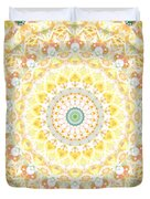 Sunflower Mandala- Abstract Art By Linda Woods Duvet Cover by Linda Woods