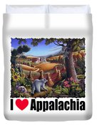 I Love Appalachia - Coon Gap Holler Country Farm Landscape 1 Duvet Cover
