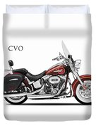 Harley Softail Deluxe Duvet Cover by Mark Rogan