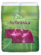 Nebraska Map Duvet Cover