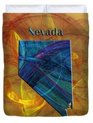 Nevada Map Duvet Cover