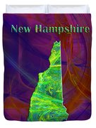 New Hampshire Map Duvet Cover