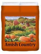 Amish Country - Pumpkin Patch Country Farm Landscape Duvet Cover
