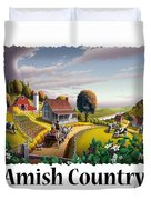 Amish Country - Appalachian Blackberry Patch Country Farm Landscape 2 Duvet Cover