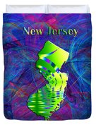 New Jersey Map Duvet Cover