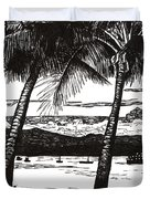 Late Afternoon At Dunk Island Duvet Cover