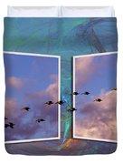 Flying Across Duvet Cover