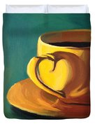 Yellow Java Duvet Cover