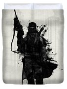Post Apocalyptic Warrior Duvet Cover