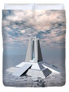 Structural Tower Of Atlantis Duvet Cover