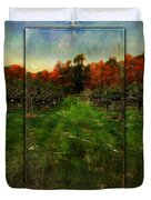 Into The Apple Orchard Duvet Cover
