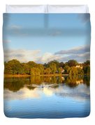 Sunset Reflections On The Lake Duvet Cover