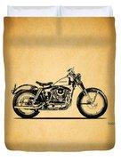 Harley Davidson Xlch 1964 Duvet Cover by Mark Rogan