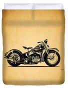 Harley Davidson Ulh 1941 Duvet Cover