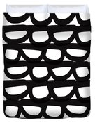 Black And White Pebbles- Art By Linda Woods Duvet Cover